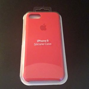 Red/ Pink Apple Silicone Case